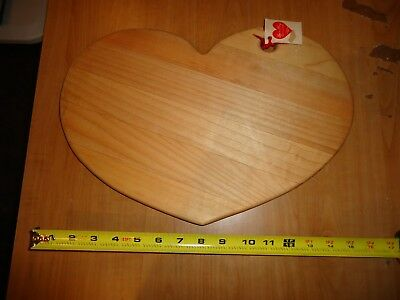 LOVE N' THINGS Large Maple Heart Shaped Cutting Board, Meat, Bread, Cheese
