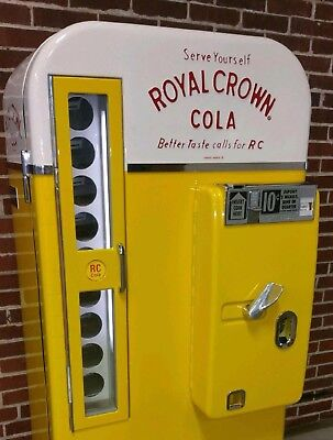 embossed Royal crown cola rc soda machine coca cola vendo vmc bottle sign cooler