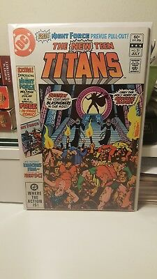 The New Teen Titans #21.     (Nm)   ~1St App. Of Brother Blood~   1982.   Key
