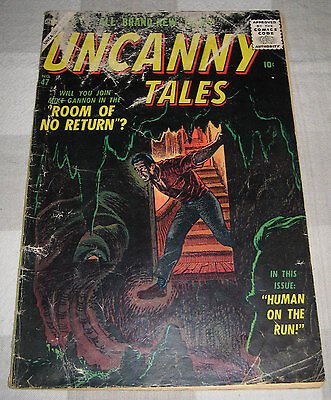Uncanny Tales 47 Atlas 10-cent Golden Age 1956 Carl Burgos Howard O'Donnell