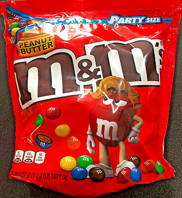 1 x M&M Peanut Butter Giant Share Bag (1.07KG) - USA