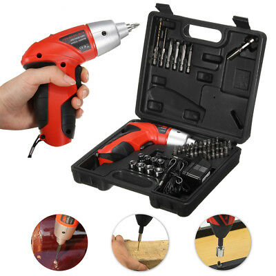 45 Pieces Electric 4.8V Cordless Screwdriver Drill Driver Set Rechargeable Drill
