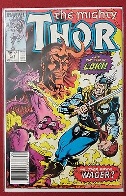 The Mighty Thor Vs. The Evil Loki #401 March,1989 Marvel  VF