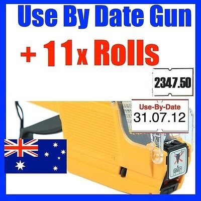 Use By Date Price Pricing Gun Labeller +11 Rolls Label