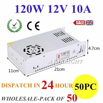 DC 120W 12V 10A Universal Regulated Switching Power Supply for LED Strip CCTV UK