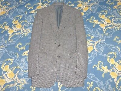 Bespoke 3 Piece Tweed Suit Jacket & Waistcoat 38 Trousers 34 Harris Style Fabric