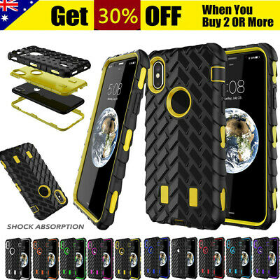For iPhone XS XR 8 7 6 Plus Armor Shockproof Heavy Duty Rugged Rubber Case Cover