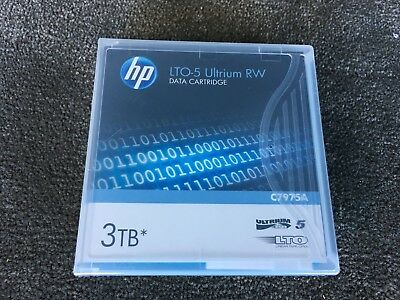 HP LTO-5 Ultrium 3TB RW Data Cartridge P/N: C7975A Brand New - free postage