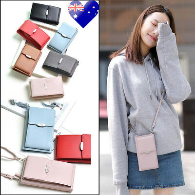 AU Womens Wallet Purse Bag Leather Coin Cell Phone Mini Cross-body Shoulder Bag