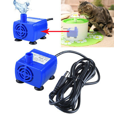 Pet Water Fountain Pump Replacement Submersible Dog Cat Drinking Fountain Pump