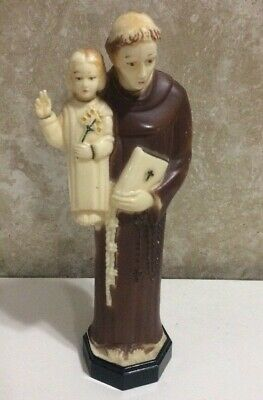 Vintage St Anthony Statue Consolidated Molded Products Figurine 8""