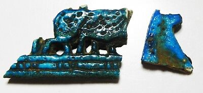 ZURQIEH -as6690- ANCIENT EGYPT,  NEW KINGDOM LOT OF TWO FAIENCE FRAGMENTS. 1300