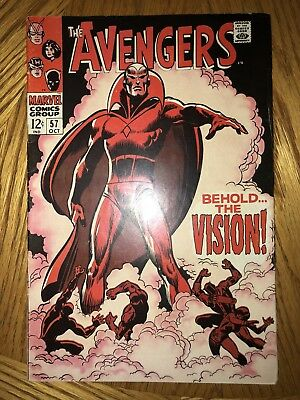 1968 Marvel Avengers #57 FN 6.0 1st App Of Silver Age Vision HOT KEY **LOOK**