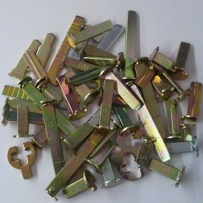 Locksmith Cylinder Tailpiece Assortment. 50 Pieces That Fit Various Lock Mfgs.