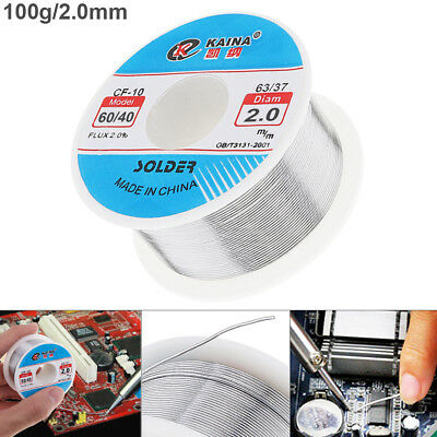 60/40 Tin Lead Rosin Core Solder Wire Flux for Electrical Solderding 2mm 100g