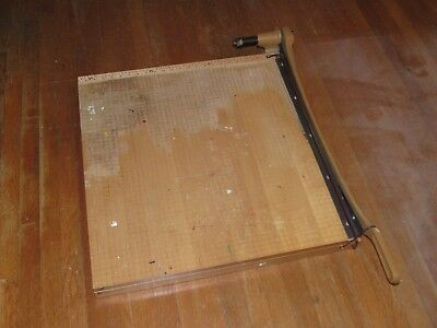 Large Industrial Vintage 25 Inch Ingento PAPER CUTTER #1162 Guillotine