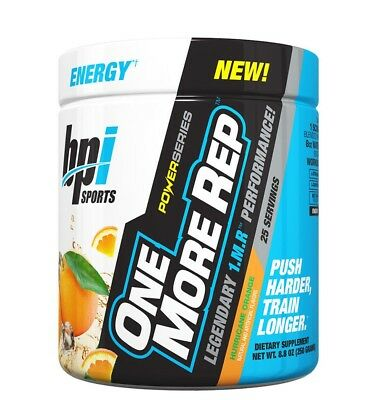 BPI Sports One More Rep - NEW Pre Workout Formula, 25 Servings - 4 FLAVORS
