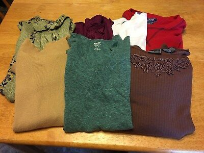 Womens Lot Sale Of 7 Tops Assorted Styles, Colors & Brands Size Large