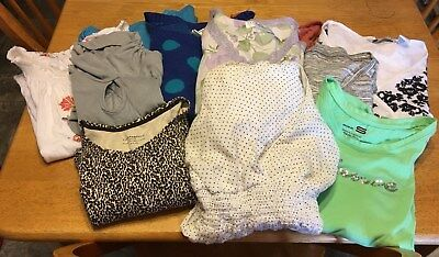 Womens Lot Sale Of 10 Tops 1 Dress Assorted Styles, Colors.brands(8)Small(3)X-Sm