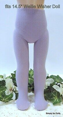 """LAVENDER DOLL TIGHTS fits American Girl 14.5"""" WELLIE WISHERS DOLL"""