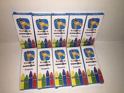 Toys R Us Geoffrey Crayons LOT Of 10 BRAND NEW Packs