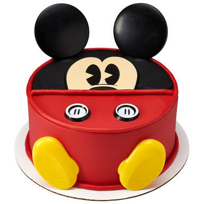 Mickey Mouse 7 piece Cake Decoration Kit Ears Eyes Buttons Feet Party Favors