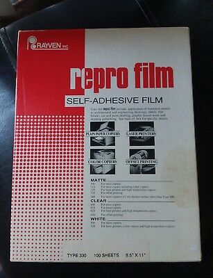 Vintage Rayven Repro Film self adhesive film offset  330 full box 100 sheets