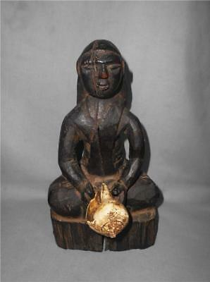Antique Nepal TOP HIGH AGED USED WOOD TRIBAL SHAMANIC RITUAL VOTIVE FIGURE