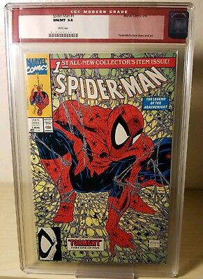 Spider-Man 1 1990 CGC 9.8 Old Red Label Modern Todd McFarlane Green Stan Lee