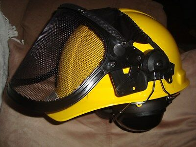 Safety Yellow Woodsmen Chainsaw Safety Helmet+STIHL Tool { Read Description }