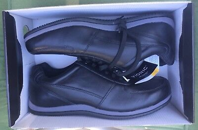 Vionic Branxton Size 11 Black Walking Shoes Men's Sneakers Orthaheel New W/ Tags