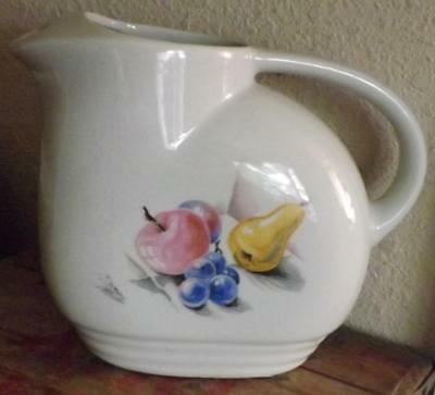 Knowles Utility Ware Pitcher Fruit Design