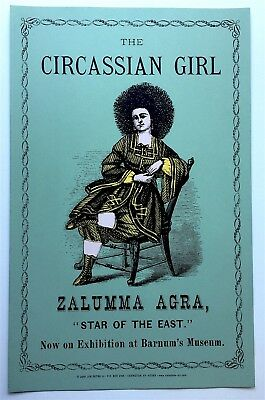 "The Circassion Girl - Zalumma Agra - ""Star of the East"" - Sideshow Freak POSTER"