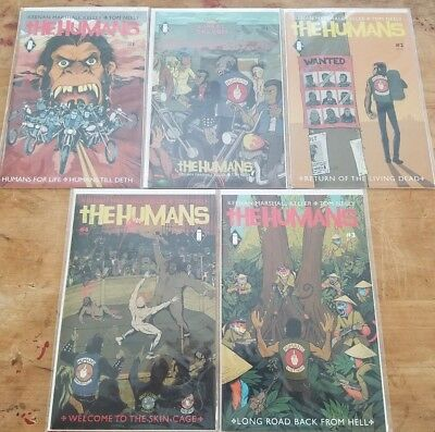Humans 1-4 + #1B CBLDF Exclusive Variant Cover! Lot/Run of 5 First Print 1 2 3 4
