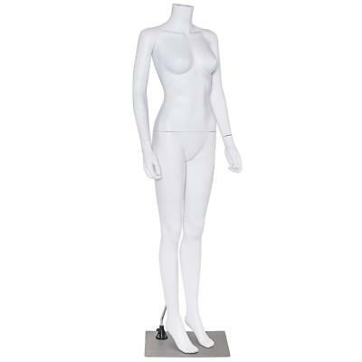 Headless Female Mannequin Stand Durable Plastic Dress Form Display Standing Pose