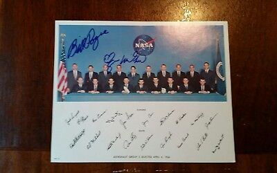 Nasa astronaut signed by Bill Pogue and Edgar Mitchell. Group 5 Selected 1966