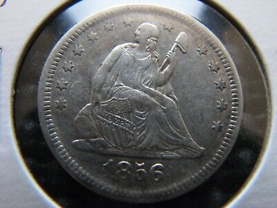 1856/6 Seated Quarter Compass Point Reverse