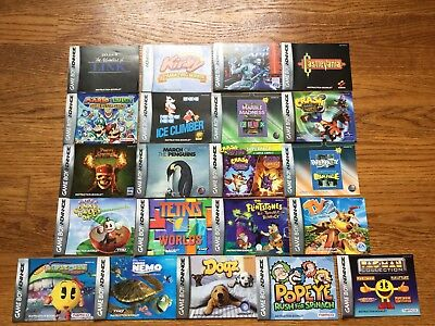 Lot of 21 Nintendo Game Boy Advance GBA Instruction Booklets Manuals Zelda+Mario