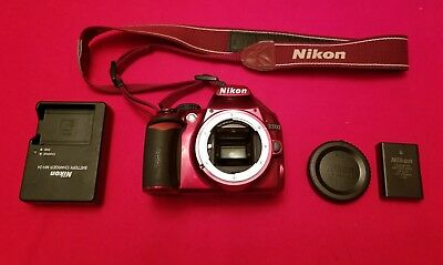 Nikon D3100 14.2MP Digital SLR Camera - Red (Body Only) - Excellent Conditions.