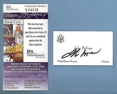Signed John McCain US Senate Business Card    COA JSA CERTIFIED