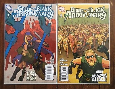 Green Arrow And Black Canary #2-3 Cliff Chiang Variants 2008 Marvel Comics