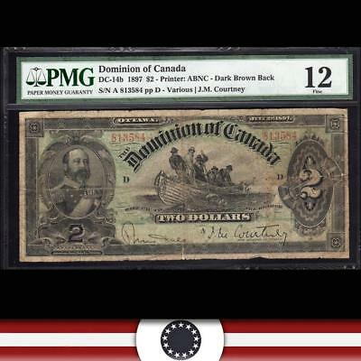 1897 $2 DOMINION OF CANADA PMG 12 DC-14b   813584