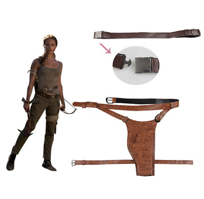 Lara Croft Cosplay Tomb Raider Festival Party Carnival Women Belt With Holster