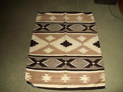Two antique Navajo rugs from 1920 to 1940s