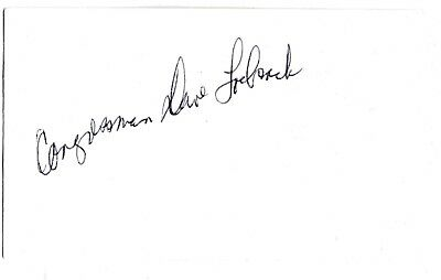 congressman dave loebsack democratic representative for Iowa autograph