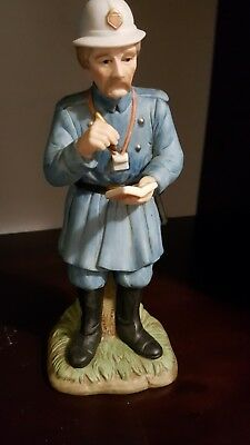 Vintage hand painted Bobby English POLICE Officer  #07492 Lefton China 1990
