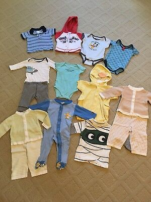 lot of baby boy clothes summer/fall 3-6 months, all 100% cotton
