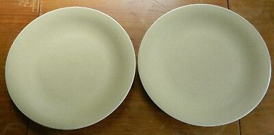 Two POTTERY BARN Speckled Tan ELLIPSE DINNER PLATES Japan Excellent Condition!