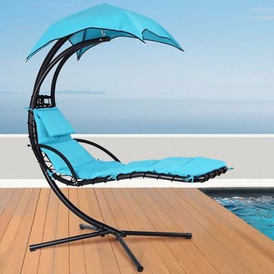 Helicopter Chair Garden Dream Chair Sun Lounger Chaise Swing Hammock w/Canopy