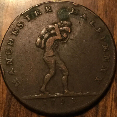 1793 Uk Gb Great Britain Manchester Halfpenny